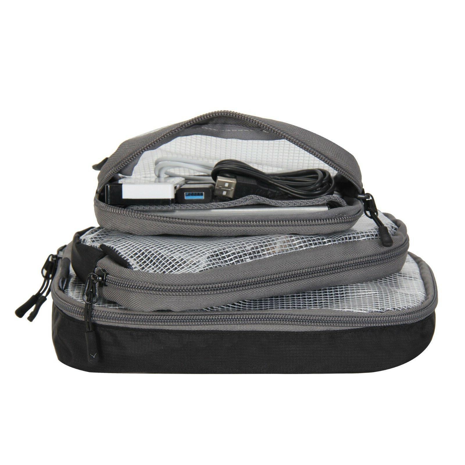 3pcs Small Size Multifunction Travel Organizer Case Packing