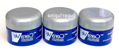 3x Cerave Healing Ointment Jar Sample Size NEW Travel 2.5g E