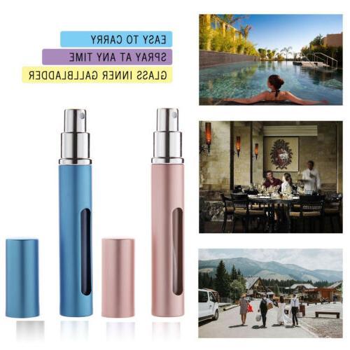 5pcs Travel Refillable Perfume Atomizer Empty Spray