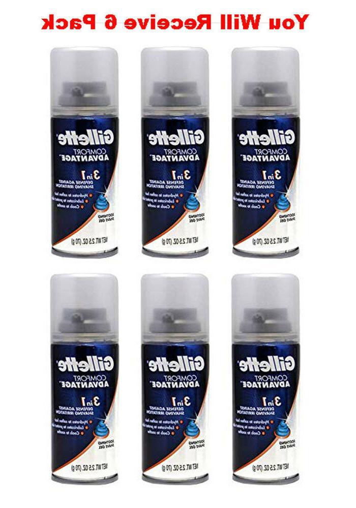 6-Pack Gillette Travel Size Shaving Cream ComfortAdvantage 3