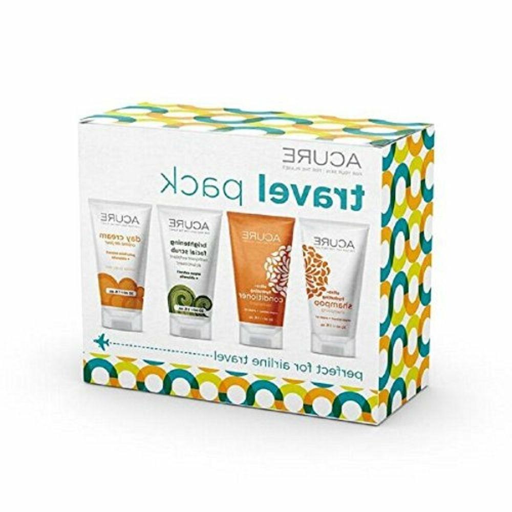 ACURE Essentials Travel Kit, Shampoo, Cream
