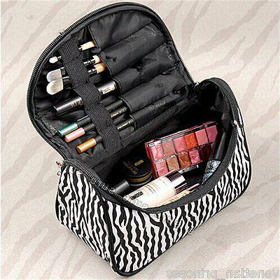 Cosmetic Bag Case Portable Womens Makeup Bag Travel Size Zeb