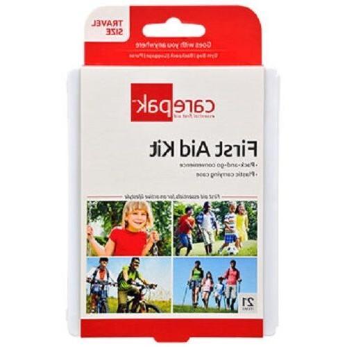 New Carepak Travel-Size Essential First Aid Kits, 21 pc.
