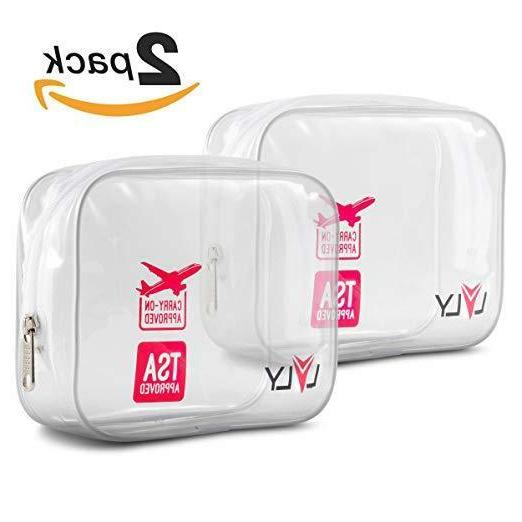 Toiletry Bag - Clear for Travel Size Toiletries Shaving Kit