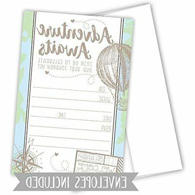 Adventure Travel Shower Invitations With Envelopes &amp