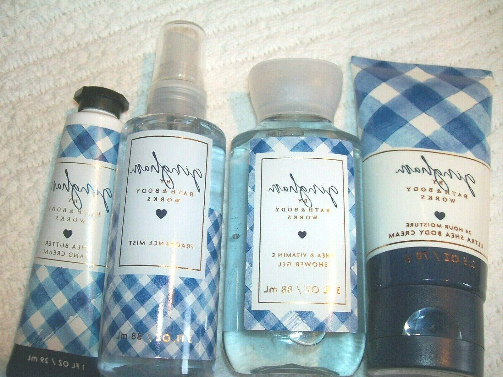 bath and body works gingham hand body