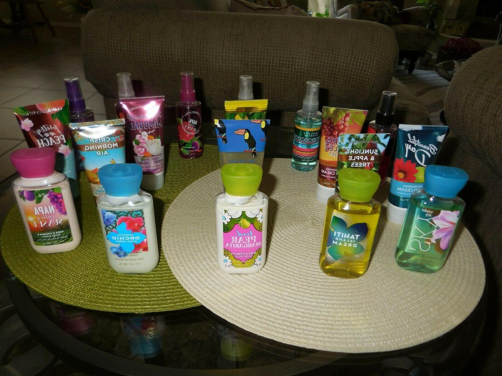 bath and body works mixed travel size
