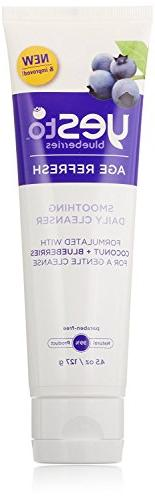 Yes To Blueberries Smoothing Cleanser, 4.5 Ounce + FREE Old