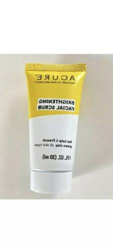 Acure Brightening Facial Scrub 1 OZ / 30 ML Travel Size Seal