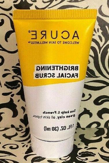 brightening facial scrub 1 oz travel size