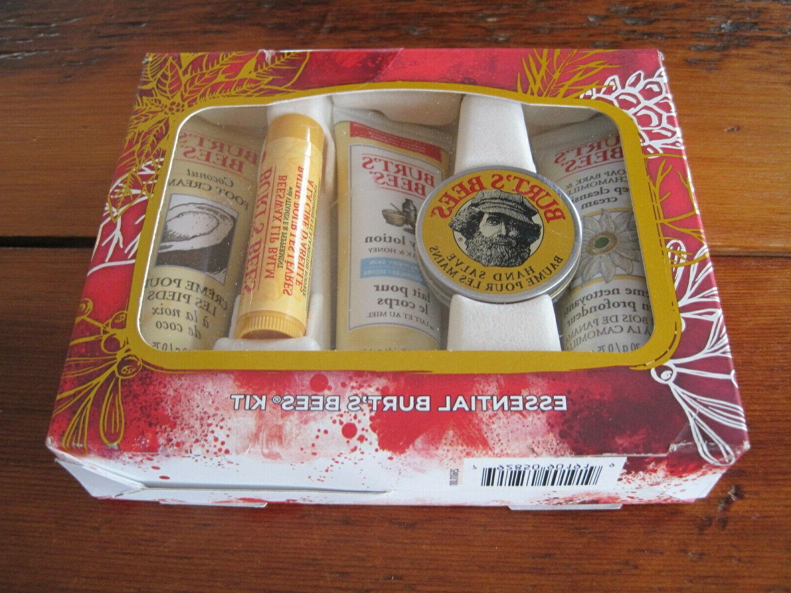 Burt's Holiday Set Essentials Lip Balm Lotion Travel Size 5