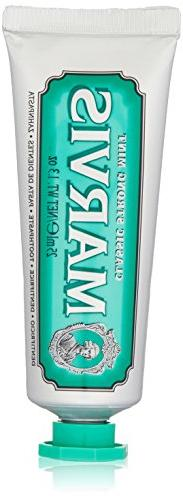 Marvis Classic Strong Mint Toothpaste, Travel Size 1.3 oz