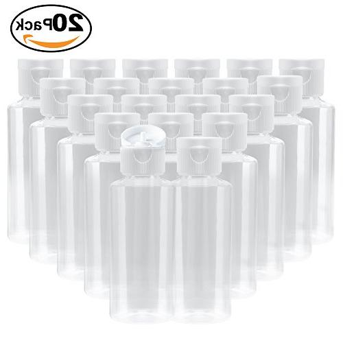 3a94e017ef8e Bekith 2 oz Clear Plastic Empty Bottles Travel