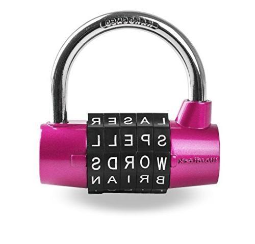 combination padlock 5 dial