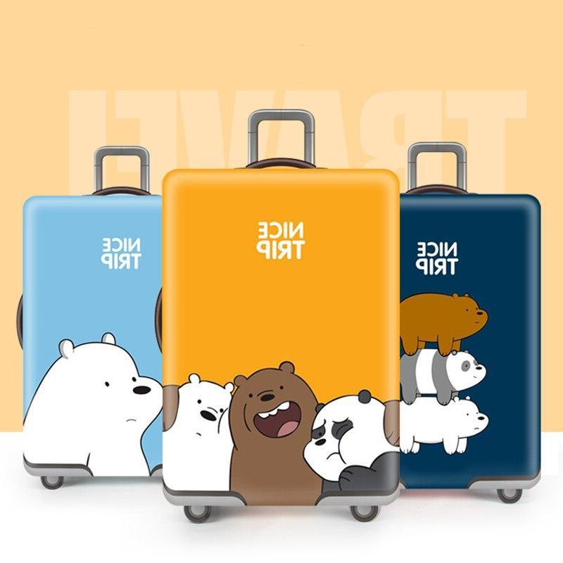 Cute Bear <font><b>Travel</b></font> Suitcase Protector Suit For 18-32 <font><b>Size</b></font> Trolley Case Elasticity Sets