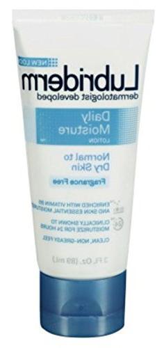 Lubriderm Daily Moisture Lotion Fragrance-Free 3 Ounce Tube