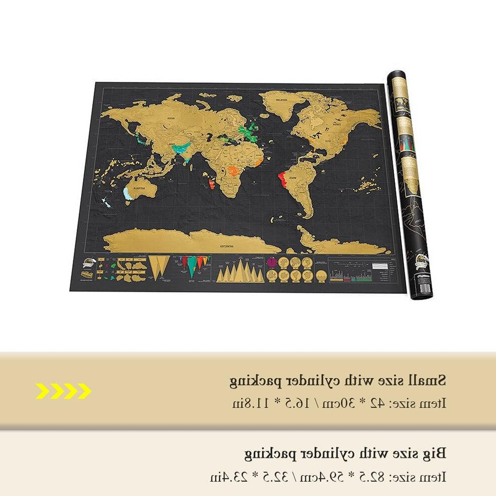 Deluxe Map off Map Personalized for Room Decoration
