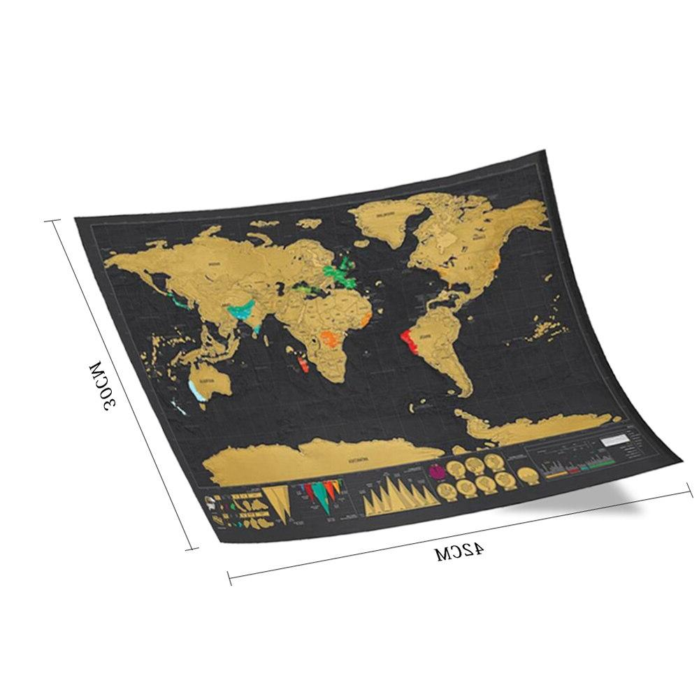 Deluxe Decoration Map Scratch Map Personalized <font><b>Travel</b></font> Decoration Wall