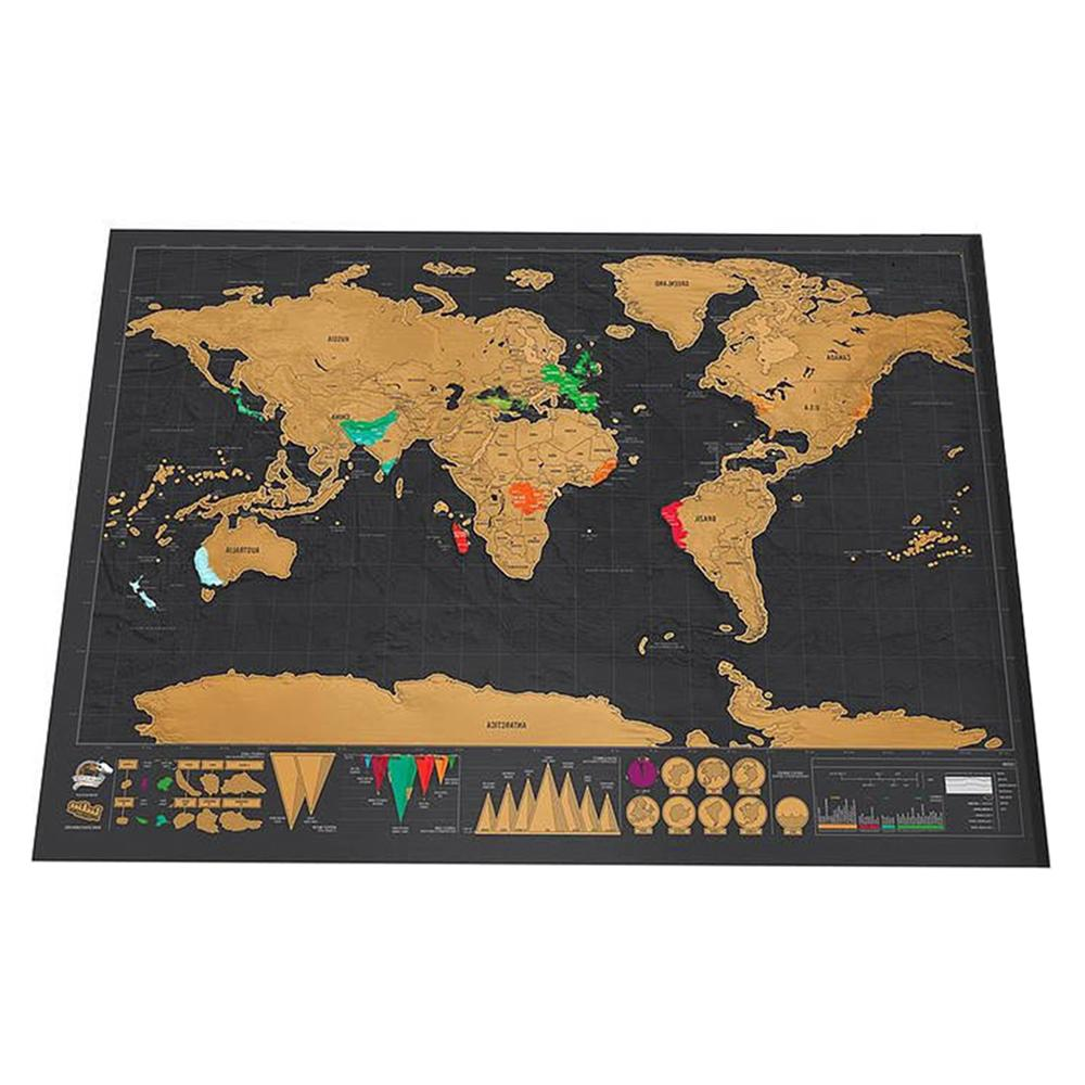 Deluxe Map Map Personalized <font><b>Travel</b></font> Scratch for Decoration