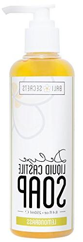 Deluxe Castile Soap - Lemongrass - Made with Premium Oils -