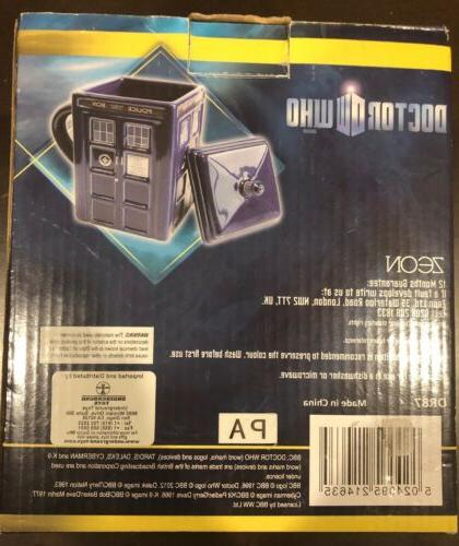 Doctor Who Figural Tardis Mug oz Lid Box Shaped Tea Coffee