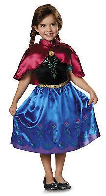 Girls Toddler Anna Traveling Dress Size 2T Disguise Frozen C