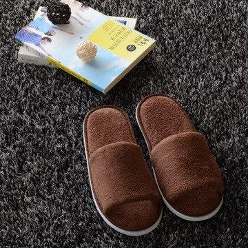 High Quality Simple Unisex Spa Slippers Disposable Home Guest Indoor Cotton Fabric Slipper