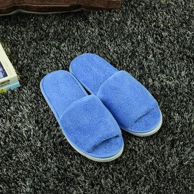 High Quality Unisex Spa Portable Slippers Disposable Home Guest Fabric