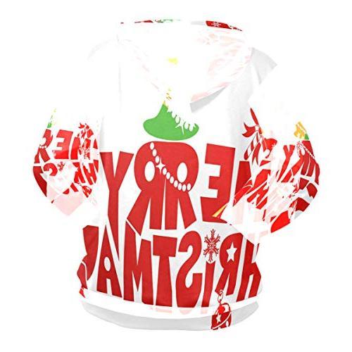 Holiday Merry Christmas 3D Hooded Sleeve Sweatshirts