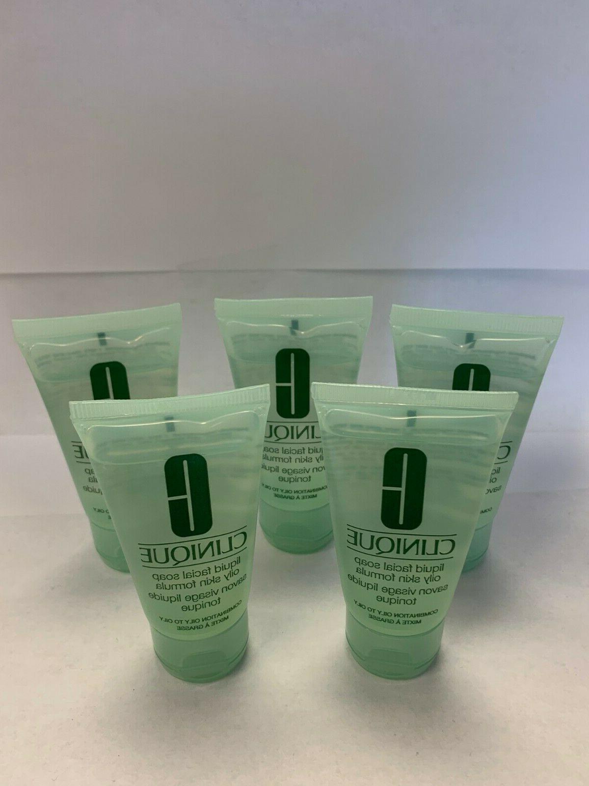 lot of 5 liquid facial soap oily