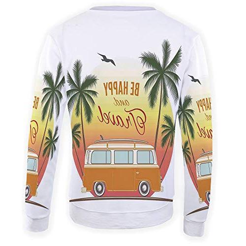 Men's Top Decor,Pullover T-Shirt Outwear Blouse