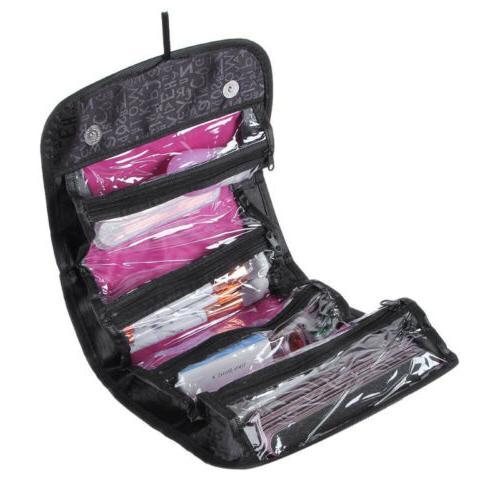Large Travel Cosmetic Makeup Bag Toiletry Hanging Zip Organi