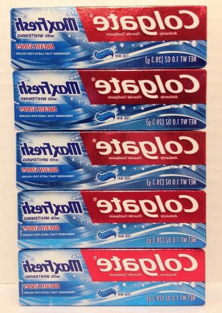 pack 5 max fresh travel size toothpaste