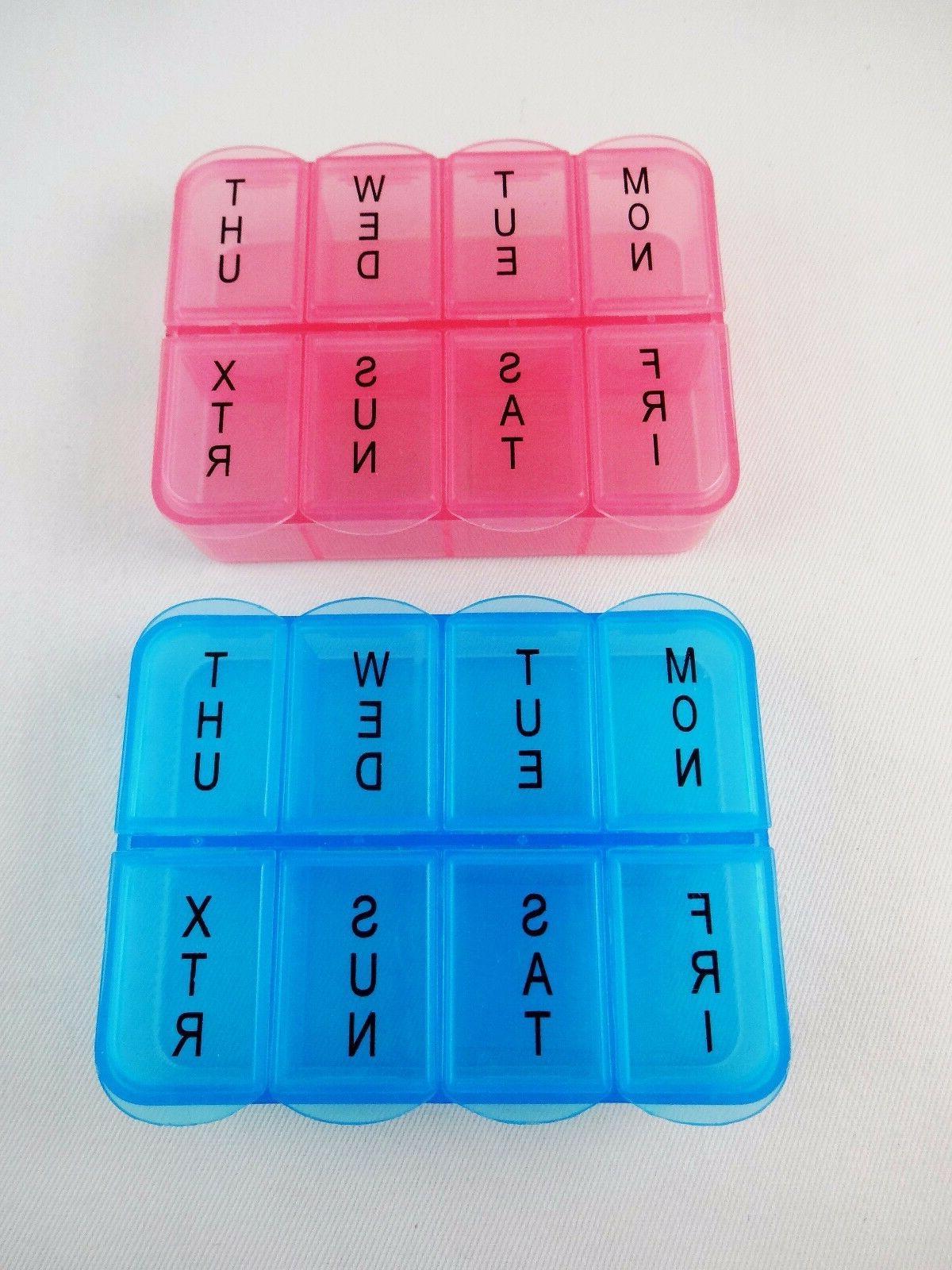 pill box vitamin organizer 8 compartments plastic