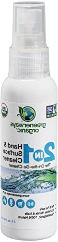 Greenerways Organic Natural All-Purpose Cleaner, USDA Organi