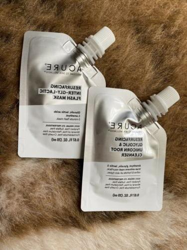 resurfacing glycolic unicorn root cleanser and mask