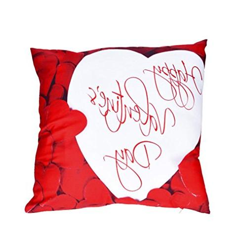square valentine day print pillow