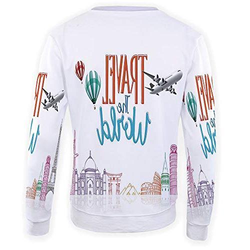 Sweatshirt Men,Quote Decor,3D