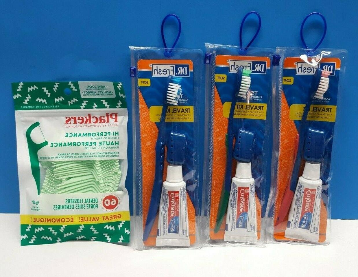 Dr. Fresh Toothbrush Travel Kit With tootheasteand cover