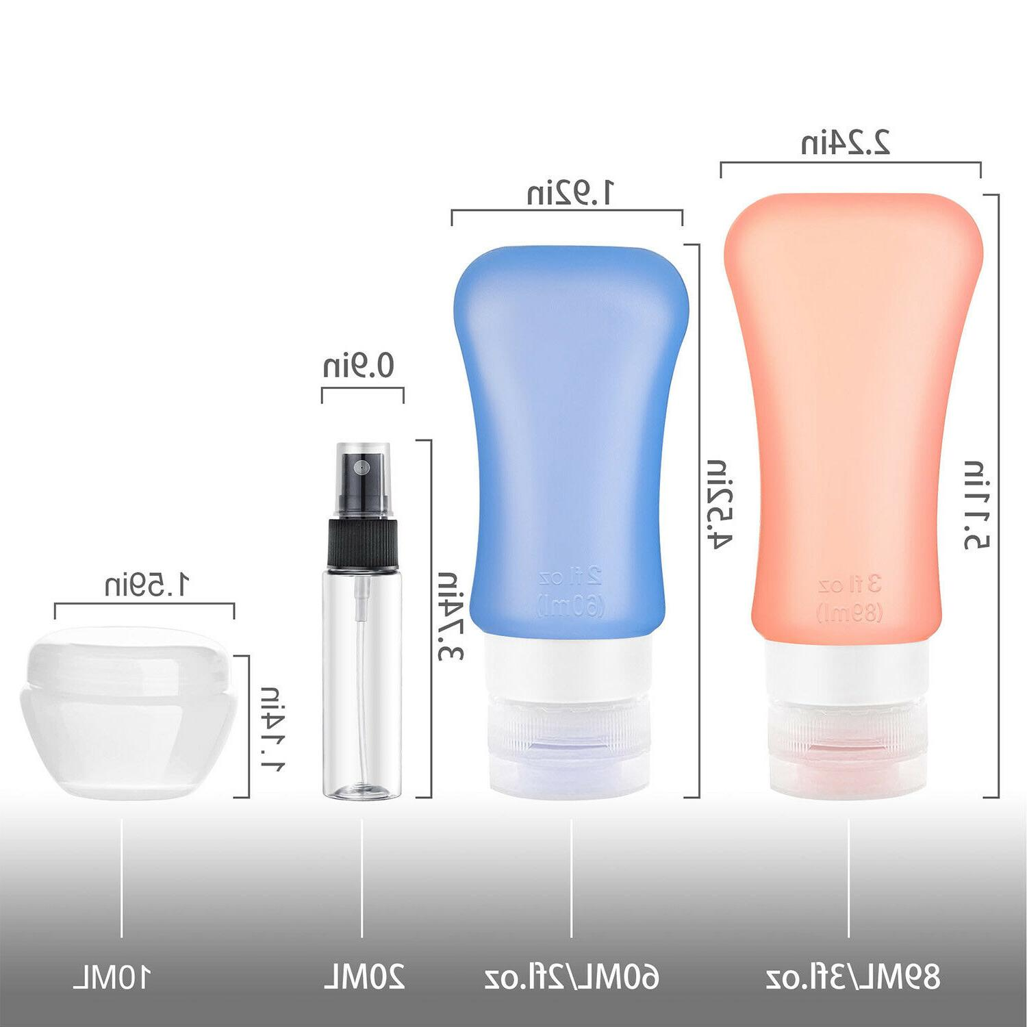 Travel Bottles Containers Approved Toiletries