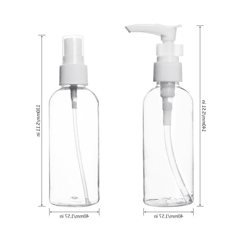 Travel bottles Cosmetic Toiletries Size