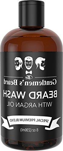 Beard Wash with Argan Oil - Beard Shampoo & Softener for Men