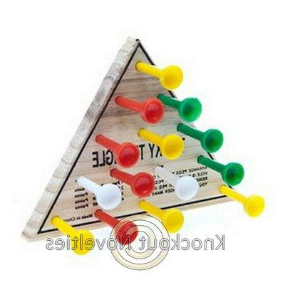 Wooden Triangle Game Wood Peg Classic Parlor Games Deduction