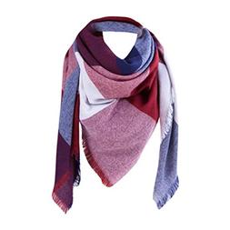 Lady Scarves,AutumnFall Women Girls Vintage Lattice Fringe S