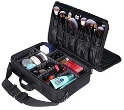 LOUISE MAELYS 3 Layers Makeup Artist Train Case Cosmetic Bag