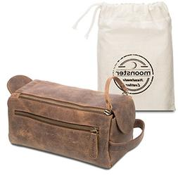 Leather Toiletry Bag For Men - Stylish, Practical and Thicke