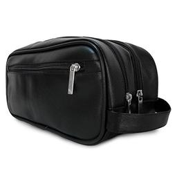 Mister Bag Leather Travel Toiletry Bag for Men or Women Wate
