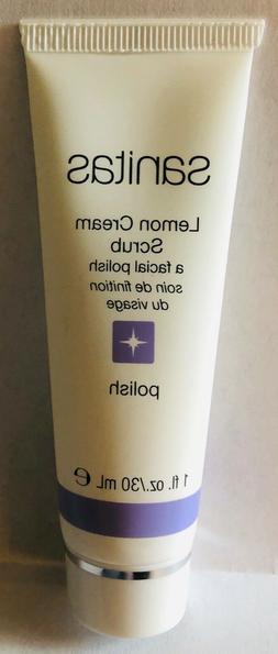 SANITAS Lemon Cream Scrub Facial Polish - Travel Size 1 oz./