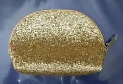 Lot 2 Estee Lauder Cosmetic Makeup Gold Travel case bag pouc