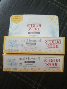 Lot of 2! Burt's Bees Enamel Care Mountain Mint Toothpaste w